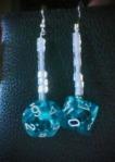 aqua with white beads